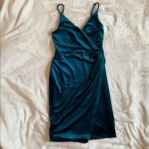 Velour jewel tone dress